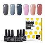 Lagunamoon Lot Vernis Semi permanent Vernis à Ongles 6 Couleurs Gel UV LED Soakoff Kit Manicure Pour Ongles 8ml …