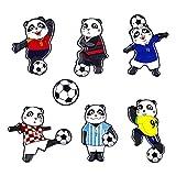Weltmeisterschaft 2018 Kühlschrank Magnete Fußball Panda, Kühlschrankmagnet Set Lustige Deko Büro/Küche/Pinnwand/Kalender/Wohnung/Klassenzimmer/Tafel/Geschenk (panda 7 pcs)