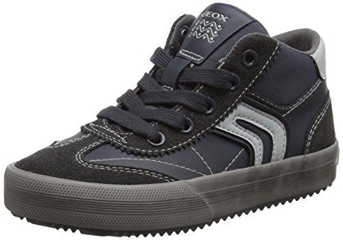 Geox Jungen J Alonisso Boy C Hohe Sneaker, Grau (Dk Grey), 36 EU