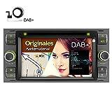 A-Sure 7 Zoll 2 Din DVD Player USB GPS Bluetooth Touchscreen Autoradio Navigation für Ford C-Max/S-MAX/KUGA/Focus/Fusion/Galaxy/Transit original Kartematerial Farbe: Schwarz (49 europäische Länder)W4FF3AQ 2-Jahre-Garantie (mit DAB Antenne inkl.)