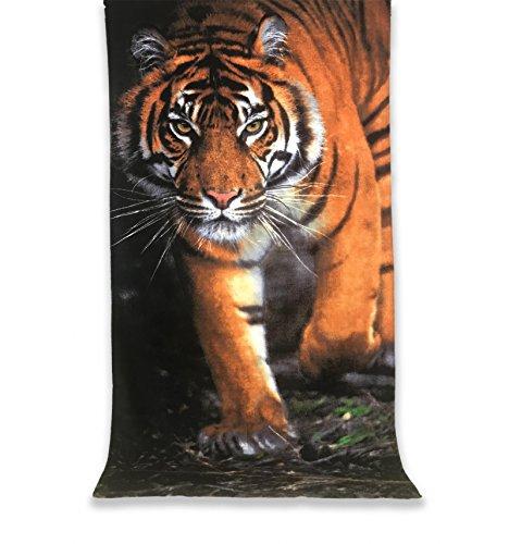 Tex family telo mare fotografico in spugna misura grande cm.86x160 tigre