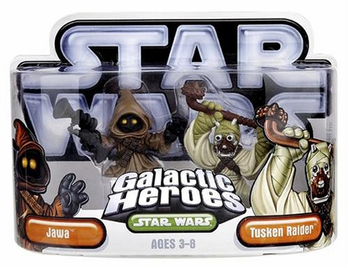 Hasbro - 85395 - Star Wars Galactic Heroes Mini-Figuren 2er Pack - Jawa und Tusken Raider