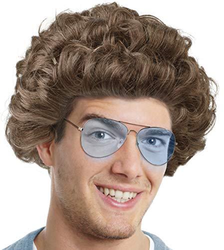 Balinco Set mit Comedy Star Perücke + Sonnenbrille für die Verkleidung zum Promi Comedian Fernsehstar