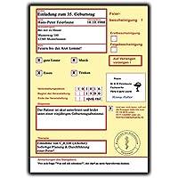 Einladungskarten Zum Geburtstag Krankschreibung Krankmeldung Krankenschein  20 Stück Z.B .30 . 40. 50 60