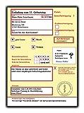 Einladungskarten Geburtstag Krankschreibung Krankmeldung Krankenschein 30 Stück Einladung Geburtstagseinladung als lustige Einladungen