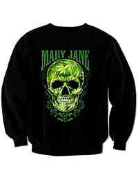 Sweat-Shirt Homme Crâne Mary Jane Weed