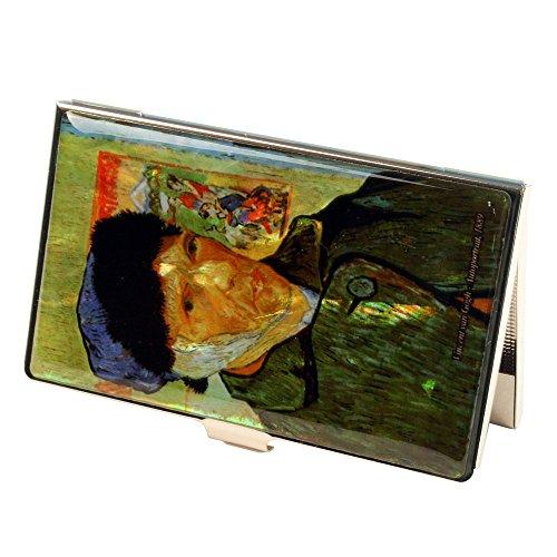 Porte Cartes de crédit Metal Antivol données electroniques RFID Design Nacre Auto portrait VAN GOGH