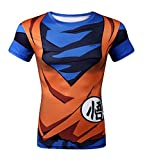 Brinny Homme Garçon Shirt Manche Court/Long 3D Dragon Ball Z Dessins Animé Goku Vegeta Imprimée Classique Déguisement Cosplay Quotidien
