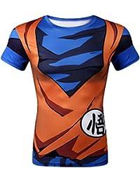 Brinny Homme Garçon Shirt Manche Court / Long 3D Dragon Ball Z Dessins Animé Goku Vegeta Imprimée Classique Déguisement Cosplay Quotidien