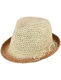 Sombrero De Paja Plegable De Panamá Sombrero De Sol De Sombrero Panamá De Especial  Estilo Playa 47bfe797927