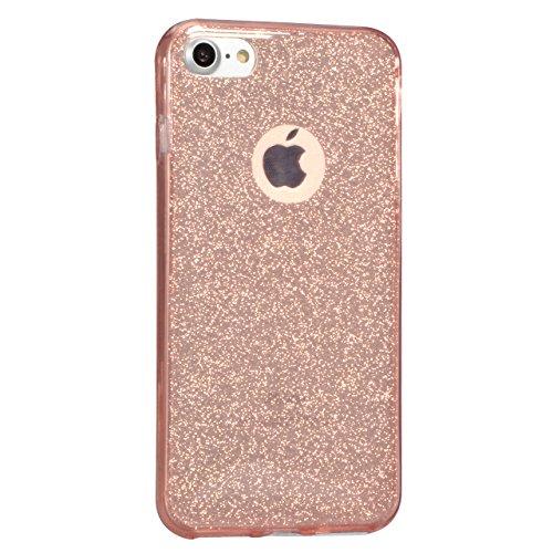 iPhone 7 Plus / 8 Plus Hülle, Vandot Double Hülle für iPhone 7 Plus / 8 Plus (5,5 Zoll) Handyhülle Transparent Full Body Beidseitiger 360°Schutz Schutzhülle Touchscreen TPU Silikon Dünne Case Cover Fr Klar Rosa