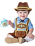 InCharacter Costumes Baby Boys' Little Lederhosen Costume, Blue/Brown, Large
