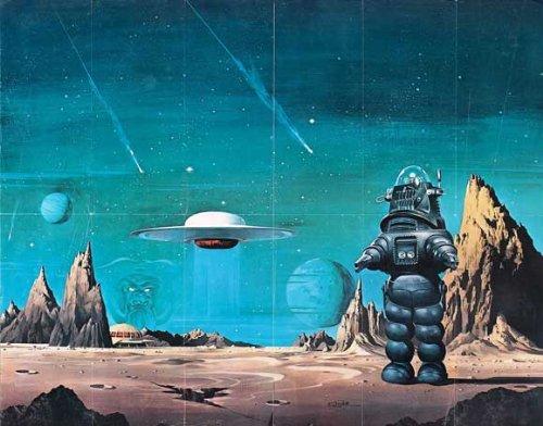 Forbidden Planet 56cm x 71cm (circa) poster
