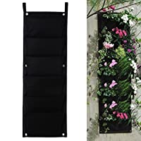 iZoeL Felt Vertical Garden Planters Hanging Garden Wall Plant Plant Bag Pockets Plant Pots for Herbs, Strawberries, Flowers 6/18/36/64/72 Pockets by iZoeL