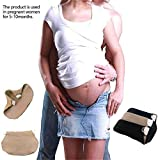 KOBWA Pregnancy Waistband Extender, Maternity Belt,the Maternity Solution Adjustable Elastic Pants Expectant Mothers Pregnant Women
