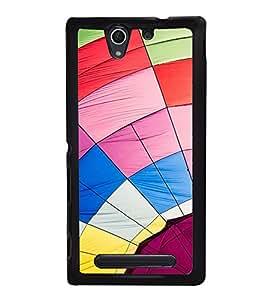 Multi Color Web Back Case Cover for SONY XPERIA C4