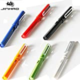 Jinhao 599bolígrafo plata Clip Escritura Suave bolígrafo de 0,5mm pluma estilográfica regalo y oficina escuela papelería