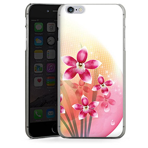 Apple iPhone X Silikon Hülle Case Schutzhülle Orchidee Schmetterling Blume Hard Case anthrazit-klar