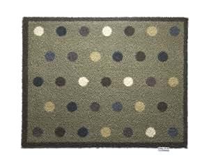 fu matte teppich baumwolle waschbar super saugf hig taupe flecken 65 x 85 cm. Black Bedroom Furniture Sets. Home Design Ideas