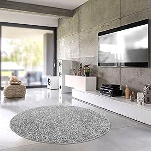 Wohnideen Für Große Wohnzimmer teppich rund grau 250 deine wohnideen de