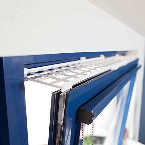 Trixie Schutzgitter für Fenster, oben/unten, ausziehbar, 75-125 × 16 cm, weiß