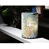 DFL Multicolor Cristal en mosaico con electrónico sin llama velas LED con temporizador para decoración de hogar fiesta boda Navidad día de San Valentín