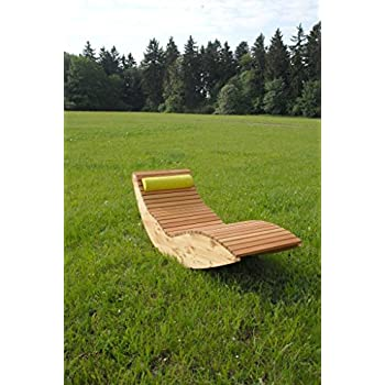 Wippliege Querlattung aus Holz, für den Garten und Innenbereich, Saunaliege, Sonnenliege, Gartenliege, Schwebeliege, Relaxliege, Liege