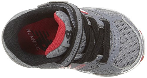 New Balance KA680 Youth Running Shoe (Little Kid/Big Kid) Grey/Black/Red