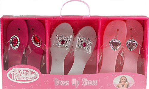 Kandy 3 Pairs Angel Princess shoes New Christmas Present Girls Dress Up Shoes TY643 by Kandy