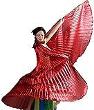 Isis Wing rot Tanz Schleier Flügel Bauchtanz Umhang Cape Karneval Fasching Kostüm