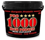 Bargain Protein Pro 1000 Mass Weight Gain Whey Protein Shake Powder Muscle Builder Strawberry Sundae 5 X 35g Samples