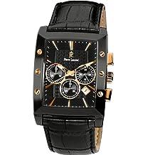 Pierre Lannier - 295C433 - Montre Homme - Quartz Chronographe - Cadran Noir - Bracelet Cuir Noir