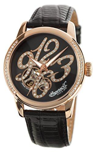 Ingersoll reloj automático para mujer y marrón con esfera analógica y correa de piel color marrón IN4901RBR