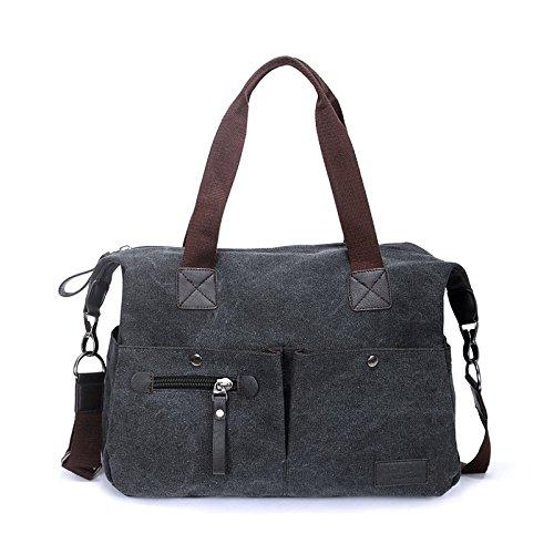 Eshow Damen Canvas Reise Täglich Schultertasche Handtasche Taschen Umhängetasche Shopper