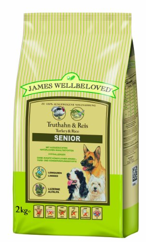 James Wellbeloved Complete Dry Senior Dog Food Turkey and Rice, 2 kg 1