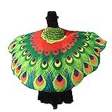 OYSOHE Wings Châle Dames Fée Doux Tissu Paon Nymphe Pixie Costume Accessoire