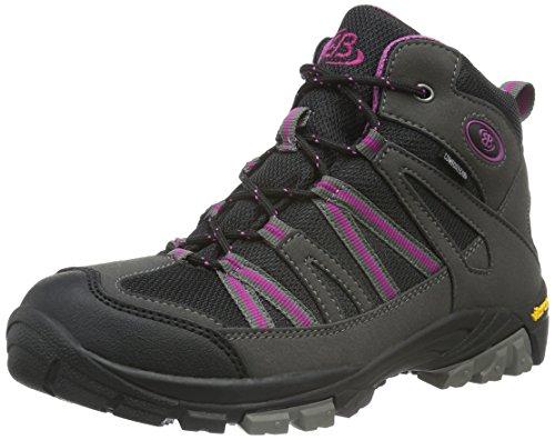 EB-Kids 231064, Chaussures de Randonnée Hautes Fille Gris (Grau/Schwarz/Lila)