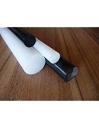 POM barre naturel / blanc Ø 50 mm longueur 250 mm Joncs pleins POM
