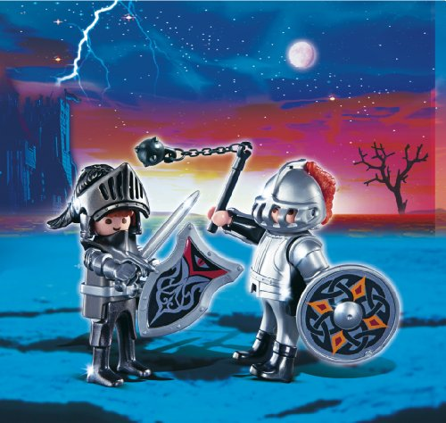 Imagen 3 de Playmobil - Pack de 2 figuras caballeros de hierro (5886)