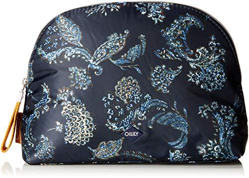 Oilily Damen Vivid Cosmeticpouch Lhz 2 Clutch, Blau (Dark Blue), 9x19x27 cm