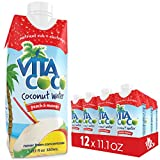 Vita Coco 100% Natural Coconut Water with Peach and Mango 330 ml (Pack of 12)