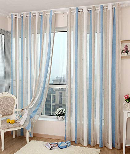 check MRP of striped window curtains Generic