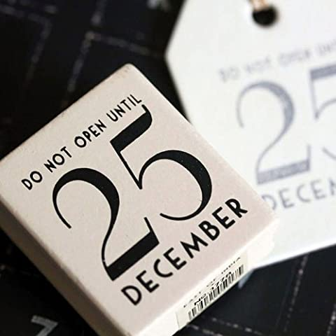 East of India Do Not Open Until 25 December Rubber Stamp - Christmas Craft / DIY Gift Tags