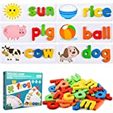 MentorKids Spelling Games Words Matching Letter Puzzles Games Toys for Boys Girls Toddlers Educational Preschool Toys Learnin