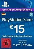 PlayStation Store Guthaben-Aufstockung 15 EUR [PS4, PS3, PS Vita PSN Code - deutsches Konto]