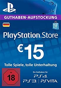 PlayStation Store Guthaben-Aufstockung | 15 EUR | PS4, PS3