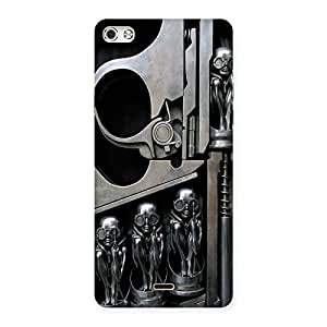 Delighted Sharpshooter Three Gun Back Case Cover for Micromax Canvas Silver 5