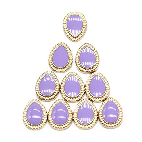 So Beauty Purple Water Drop Nail Art Accessories Nail Art Designs (10pcs)