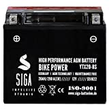 Motorrad Batterie YTX20-BS AGM Gel 20AH 12V 290A/EN YTX20-4 CTX20-BS 51822 52013