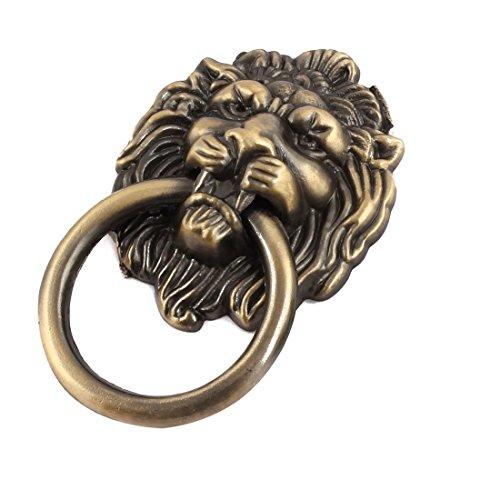Preisvergleich Produktbild sourcingmap® Metall Löwe Kopf Design Vintage Stil Möbel Schrank Ziehgriff Bronze Ton